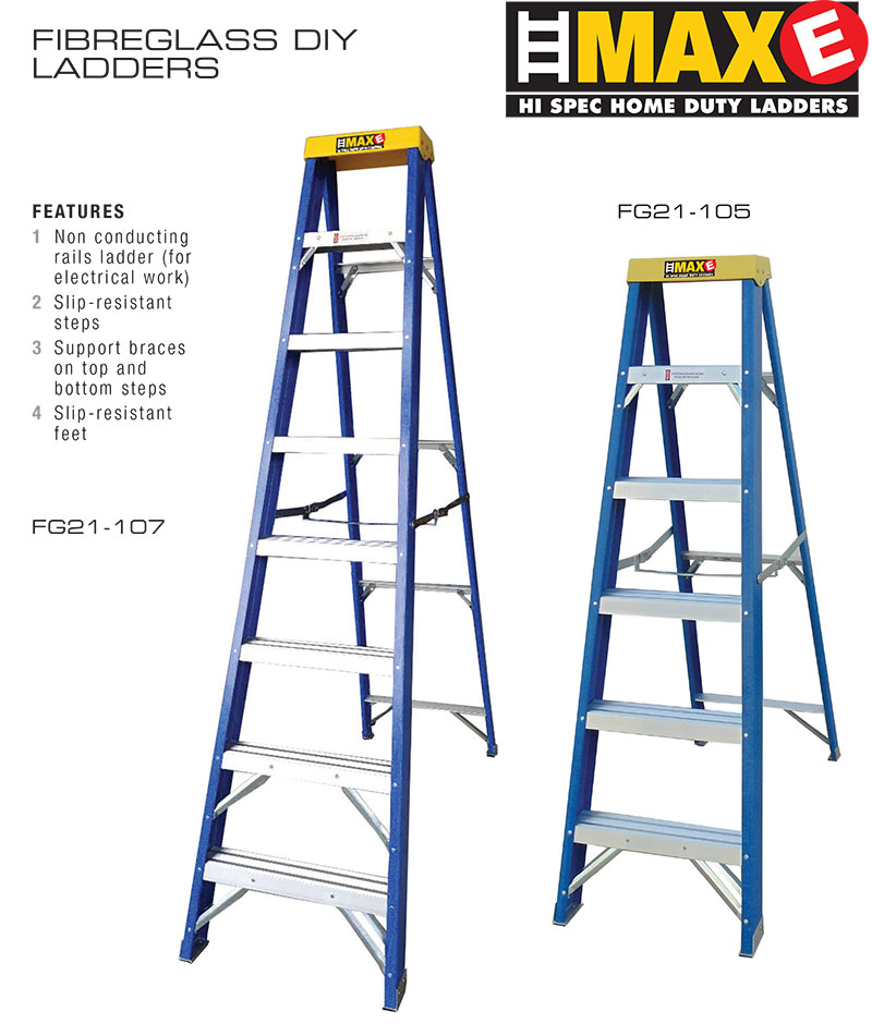 MAXE-Fibreglass-ladders-today